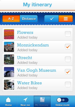 use the app to make a personalized itinerary holland travel