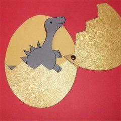 Total Niedlich Dino Im Ei Dinosaurier Basteln Diy Kita Malen