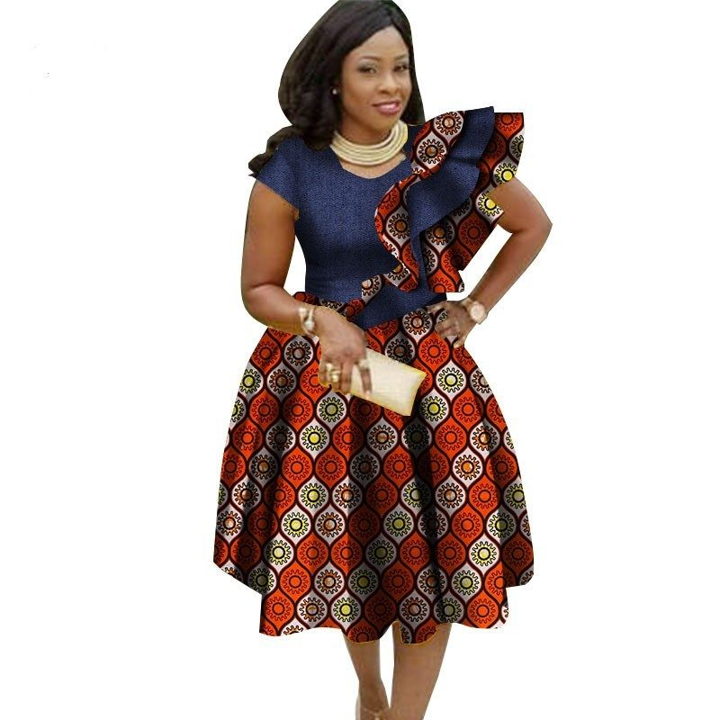 Women African Dashiki Elegant Bohemian Beach Vestido Sexy Ankara Dress