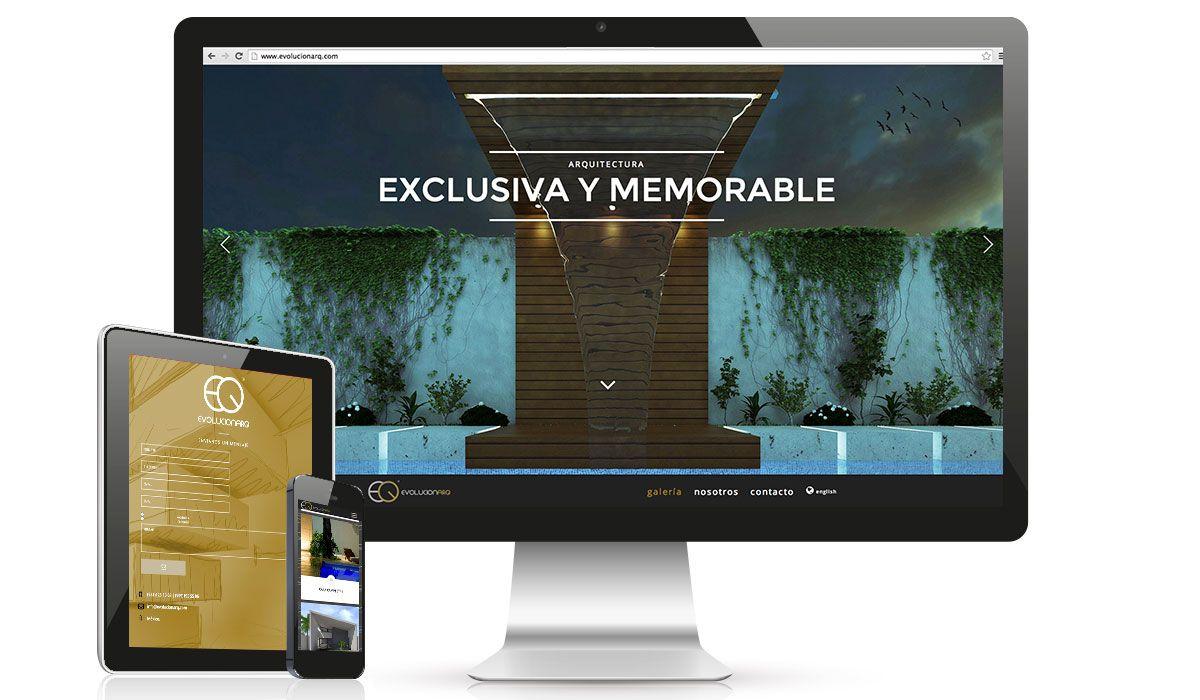 EVOLUCIONARQ: Diseño web para firma de arquitectos en Mérida, Yucatán.