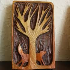 Wood carving by gabrielle reith
