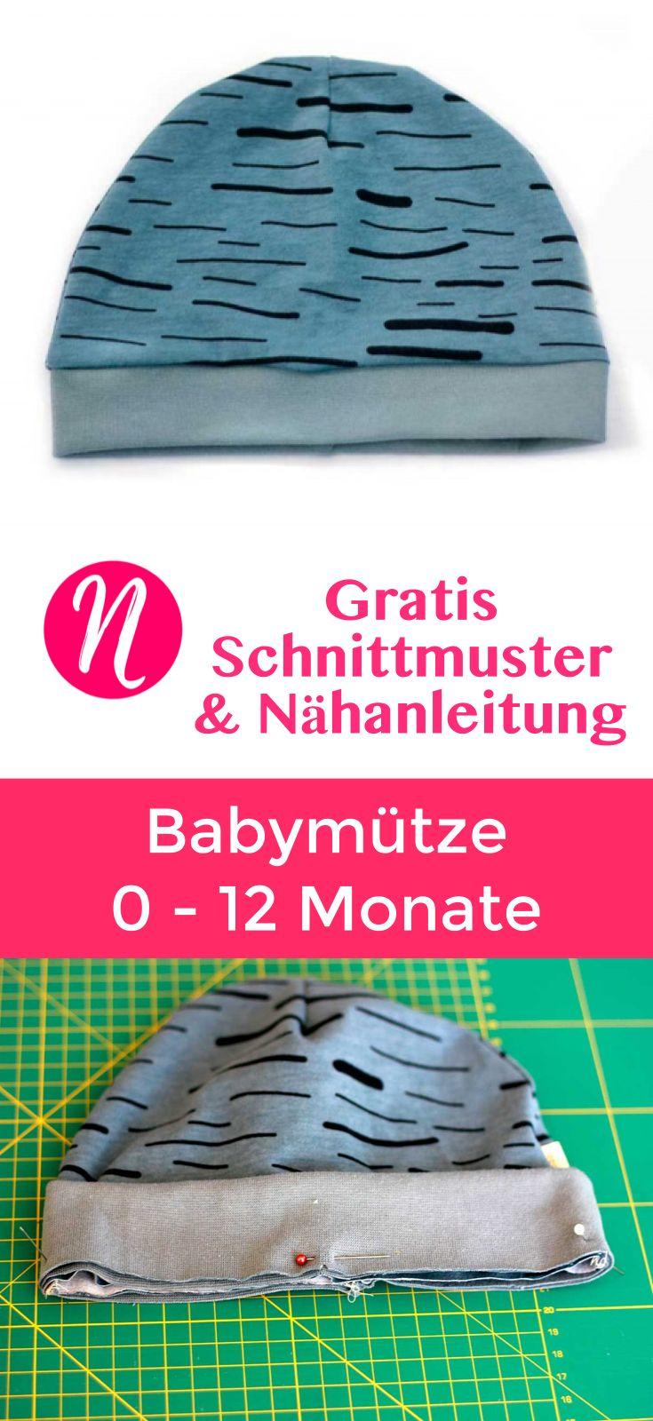 Einfache Babymütze - Freebook | Babymütze, Besuchen und Monat