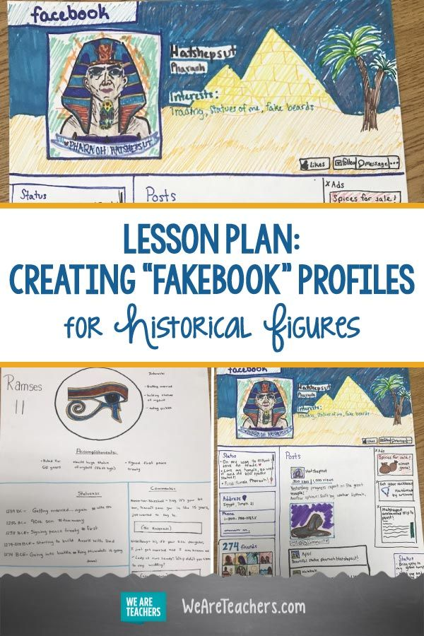 I Have My Students Create Fakebook Profiles for Historical Figures