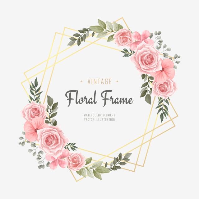 Elegant Wedding Vintage Watercolor Floral Flower Frame Floral Clipart Background Pattern Png And Vector With Transparent Background For Free Download Flower Frame Floral Watercolor Flower Drawing