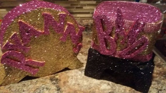 14 inch Custom glitter snare drum and bass drum