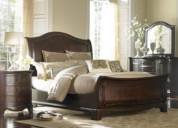 Bedroom Furniture, Sutton Place King Sleigh Bed, Bedroom Furniture ...