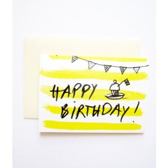 """PETERSEN Geburtstagskarte """"The Birthday Muffin"""", 4 Stück"""