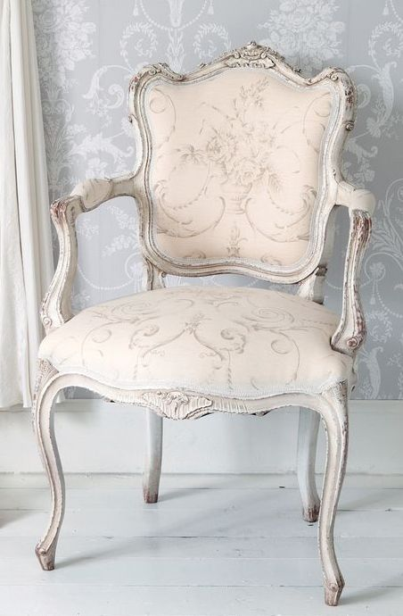 Delicieux Delicate Pink #French Chair With Grey Wash Finish. Perfect For A Ladies  Closet. ♔