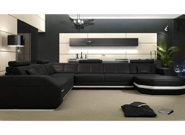 Emma - U - Leather Sofa Modular Lounge - ultimate in urban design - designer moebel weiss baxter