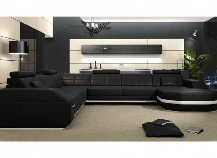 Emma - U - Leather Sofa Modular Lounge - ultimate in urban ...