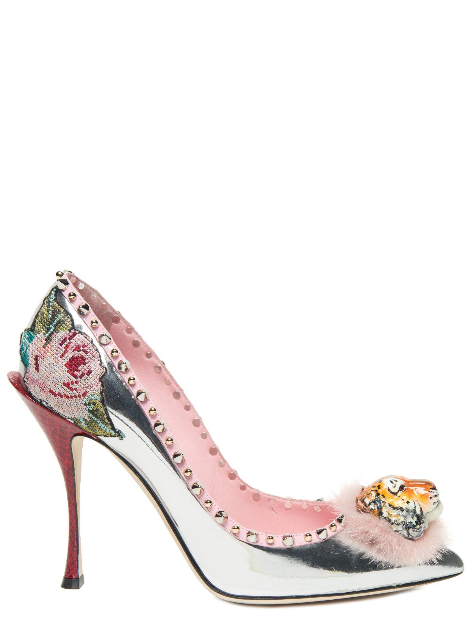Dolce & Gabbana Silver Mira Pearl Sandals HiYmV4iz