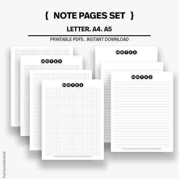 graphic relating to Wide Ruled Paper Printable identify Be aware Paper Mounted, Planner Add, Planner Printable, Observe