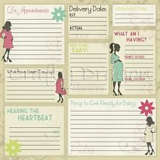 "* 12"" x 12"" SCRAPBOOKING PAPER / MATERNITY ~ PREGNANCY JOURNAL *"