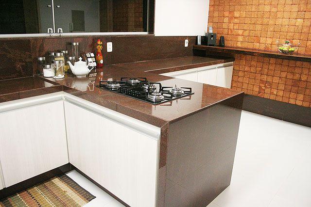 Bancada Granito Marrom Tabaco  Pedra  Pinterest  Granito marrom, Granito e -> Pia De Banheiro Granito Marrom Absoluto