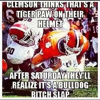 Georgia vs. Clemson sorry for the language but I had to