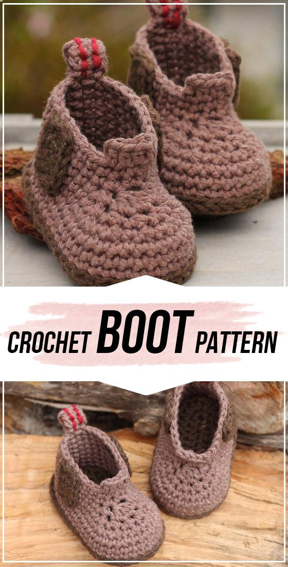 crochet Ryder Boot pattern #crochetbabyboots