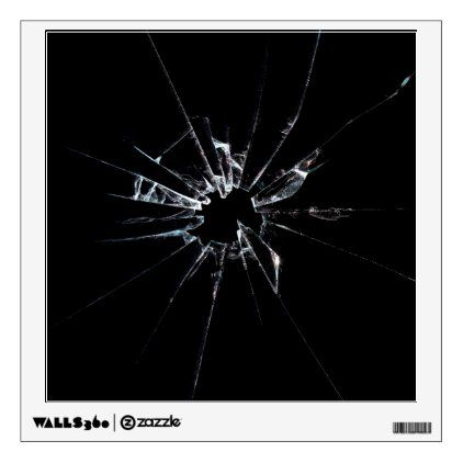 Broken Glass No 1 Wall Decal | Zazzle.com