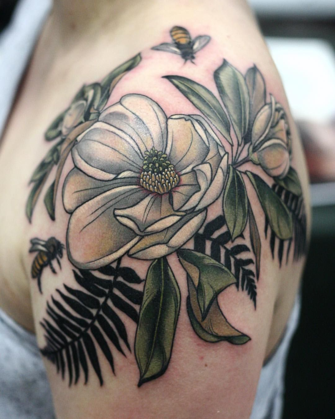 Pin by Meghan Malone on Girl Tattoo İdeas Magnolia
