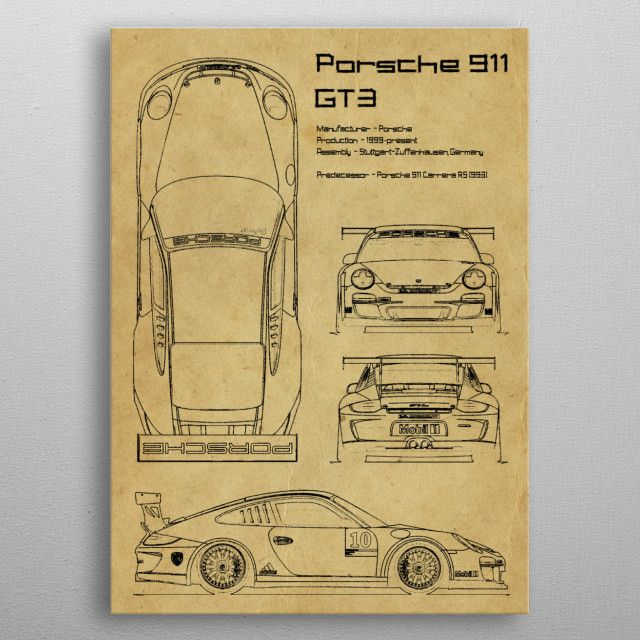 Porsche 911 gt3 by FARKI15 DESIGN | metal posters - Displate | Displate thumbnail
