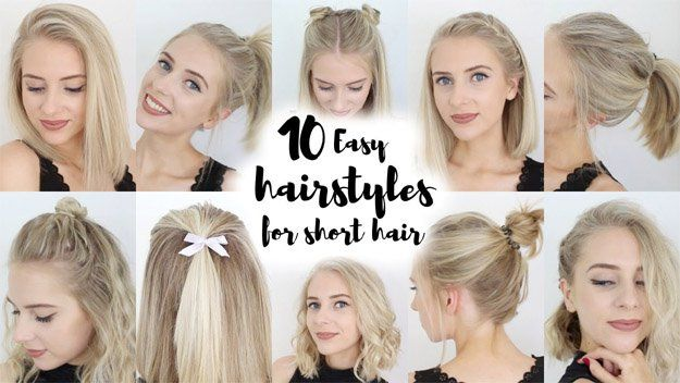 Easy Back To School Hairstyles School Hairstyles Top Bun And - Hairstyle for short hair for school