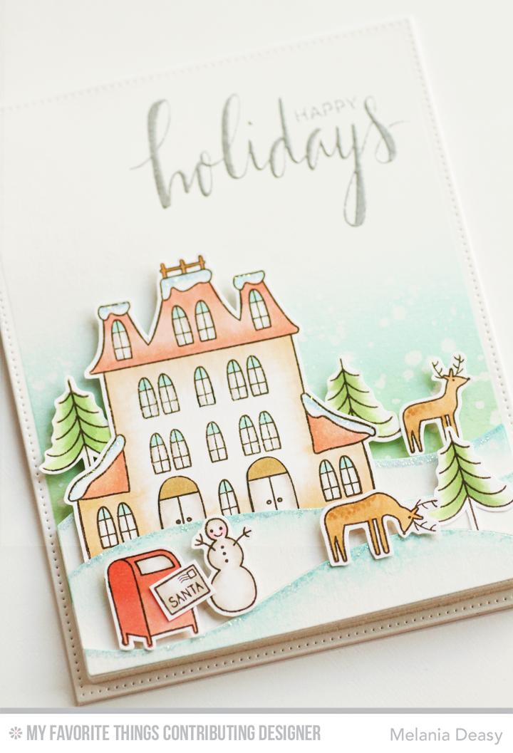 MFT Winter Wonderland - winter scene card - bjl