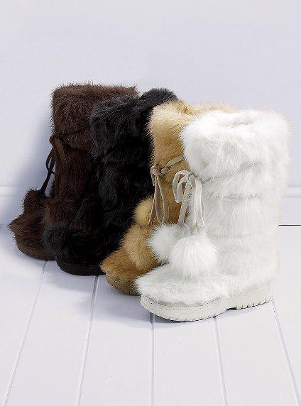17cec7f9dbf Faux Fur Pom-pom Boot - Colin Stuart - - Victoria s Secret