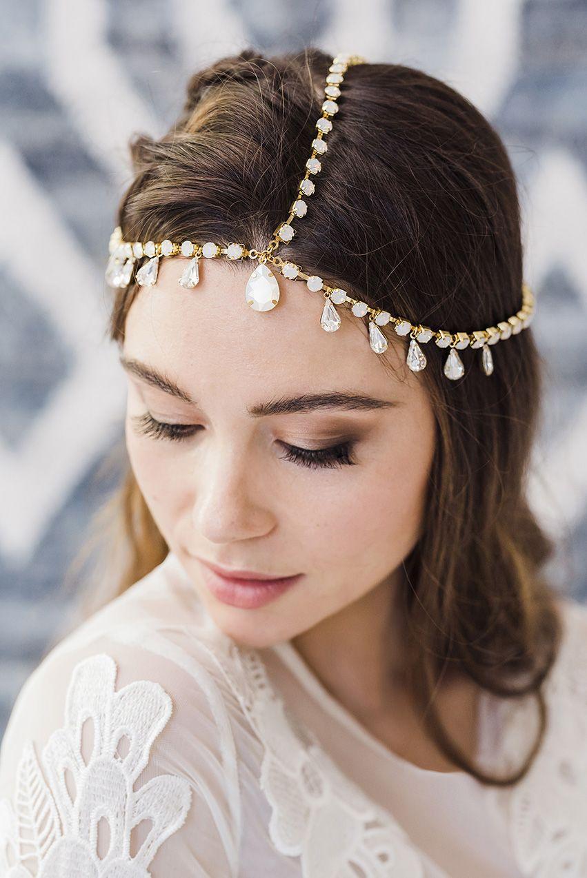 Tamika Hair Chain Headpiece Boho Bridal Headpiece Boho Headpiece Bohemian Wedding Headpiece