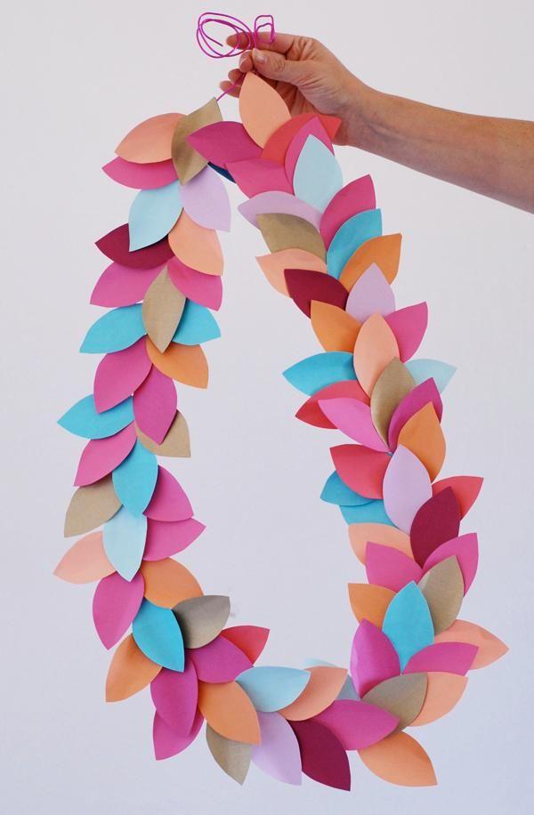 DIY Paper Garland : DIY Homemade Garland