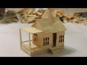 Diy miniature house 22 popsicle sticks youtube do it yourself diy miniature house 22 popsicle sticks youtube solutioingenieria Images