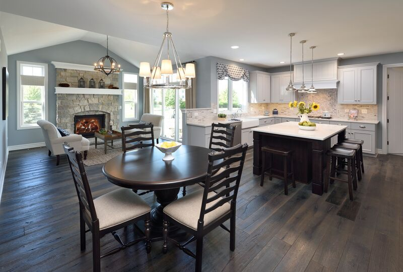 Kitchen Remodeling Naperville Il Model Plans Open Plan Features A Kitchen With Gray Cabinets Dark Island A .