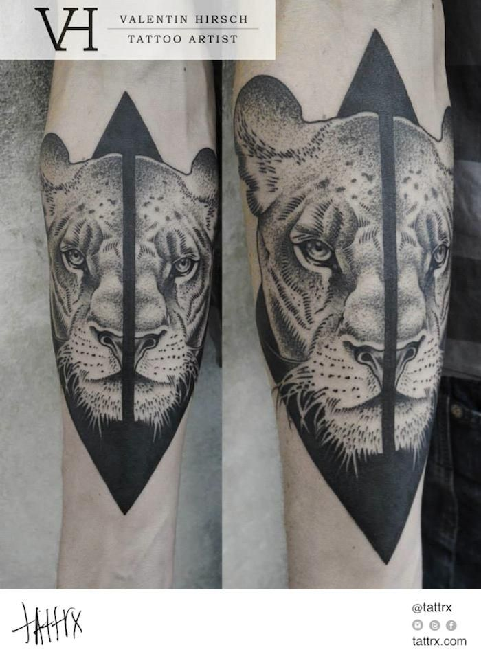Valentin Hirsch Tattoo - Lioness for Clinton
