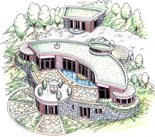 Berm Home: Fractal Structure-Michael Rice- Biological Architecture
