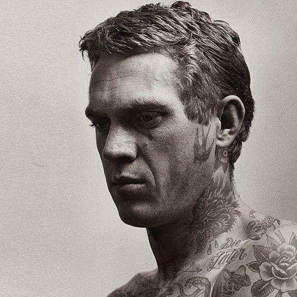 LIFE TIME GEAR TATTOOED JACK NICHOLSON JAMES DEAN JOHNNY CASH - Artist reimagines celebrities covered in tattoos