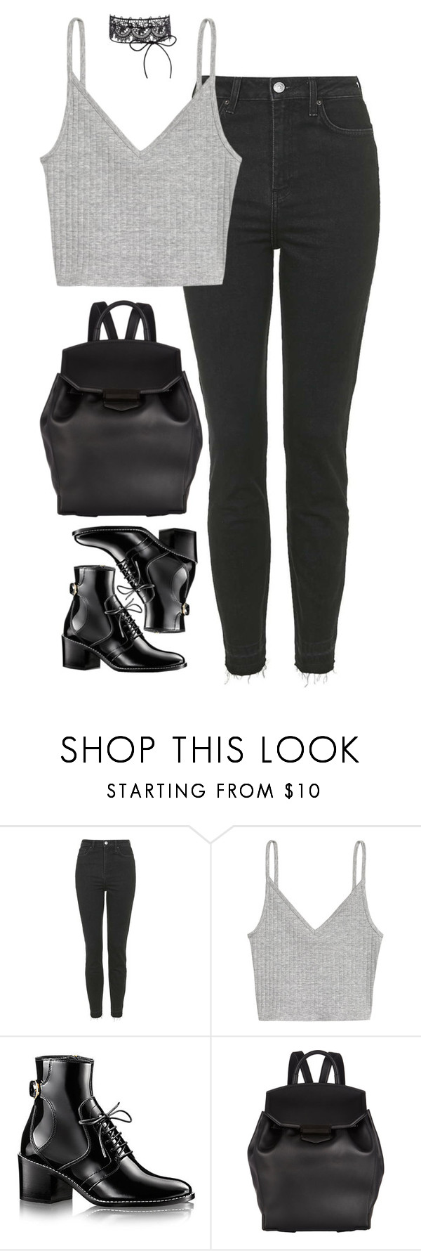 """""""Untitled #318"""" by lindsjayne ❤ liked on Polyvore featuring Topshop and Alexander Wang"""