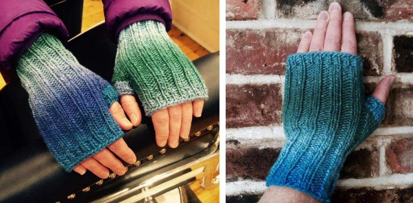Cordoncillo Knitted Fingerless Mitts [FREE Knitting Pattern] | Σάλια ...