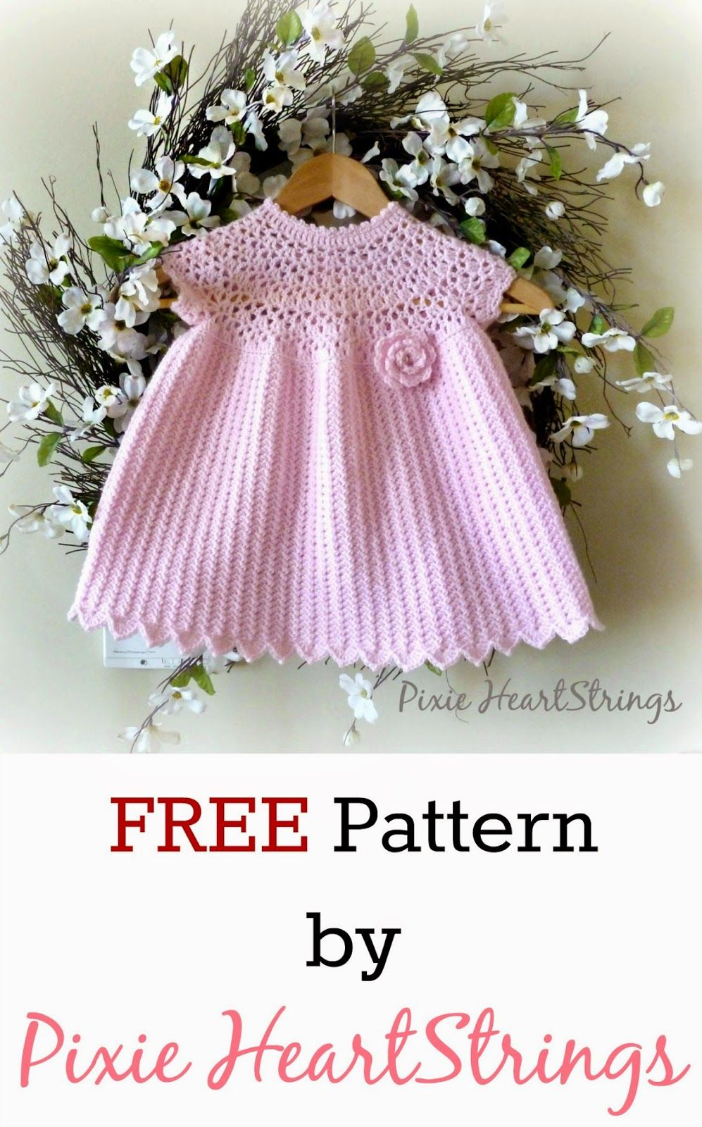 8178ee9d6 Pixie HeartStrings: Pixie's Pretty Pink Dress Pattern ~ FREE Pattern ...