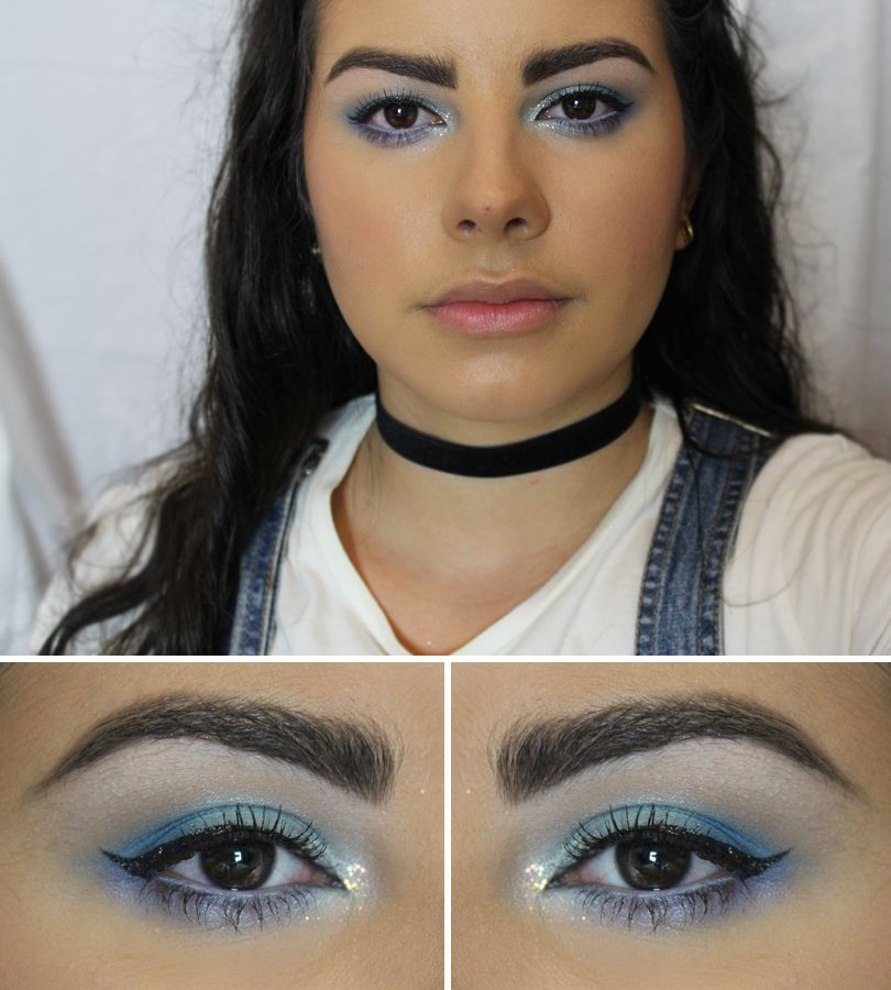 Blue Frosty 90s Makeup Look Makeup Pinterest Makeup Makeup