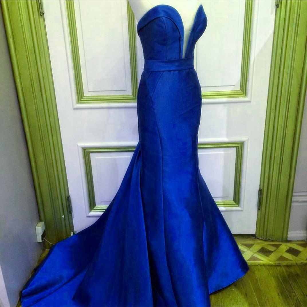 Emerald green satin long sweetheart prom dresses mermaid