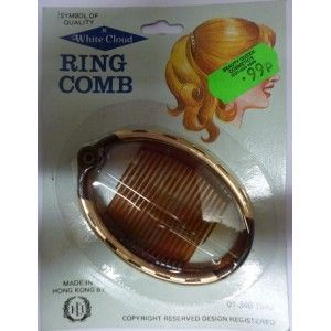 White Cloud Ring Comb Model No 405