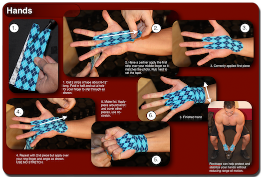 How To Tape Hands With Rocktape Crossfit Hands Kinesiology Taping Crossfit Games Open