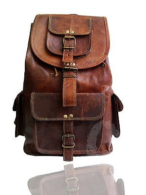 New Men/'s Leather Vintage Backpack Shoulder Bag Messenger Bag Rucksack Sling Bag