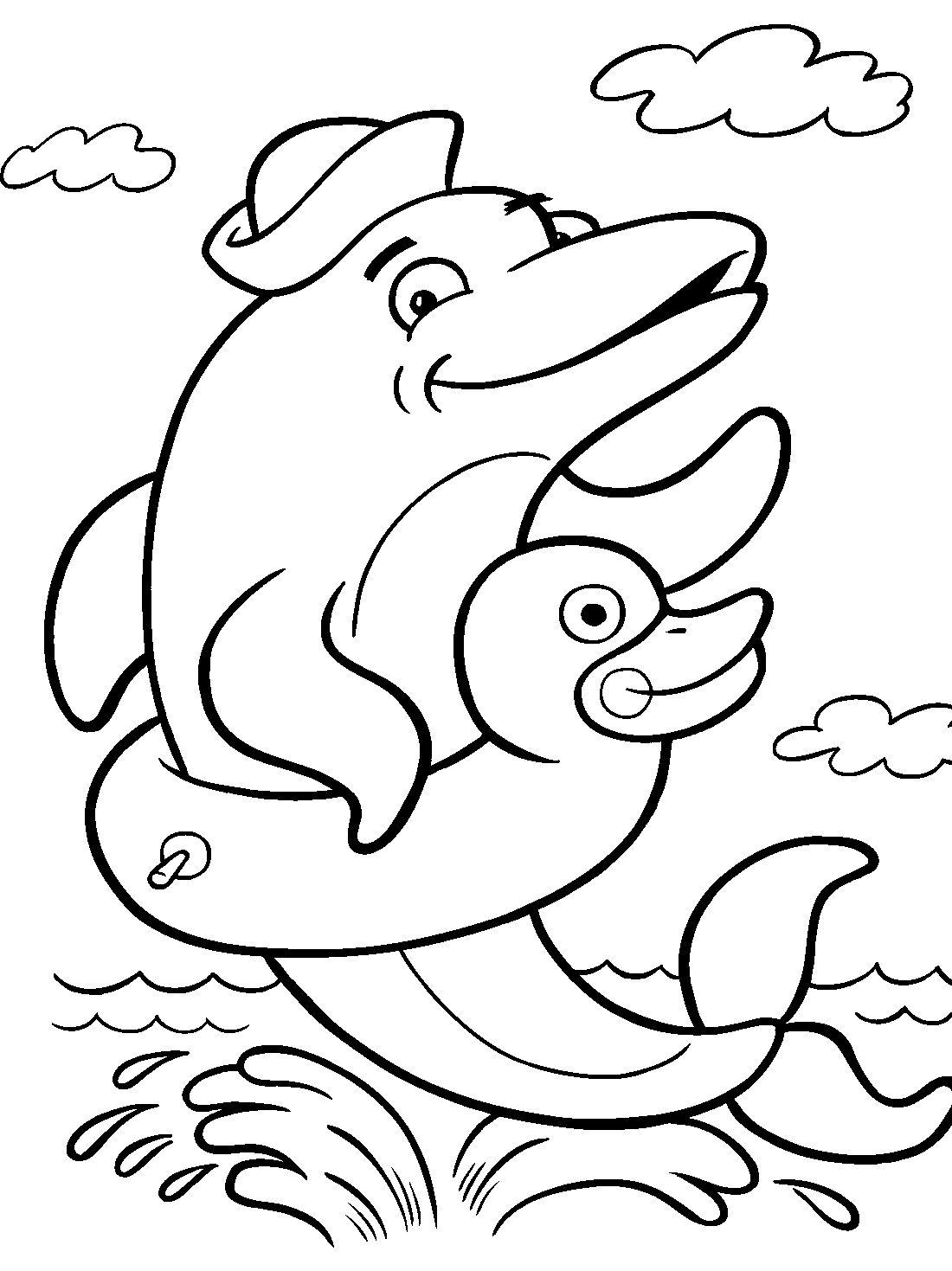 раскраска дельфин: 19 тыс изображений найдено в Яндекс ...