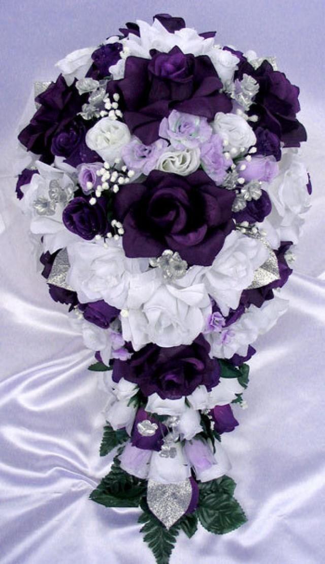 Free Shipping 21 Pcs Wedding Silk Flower Bouquet Bridal Package ...