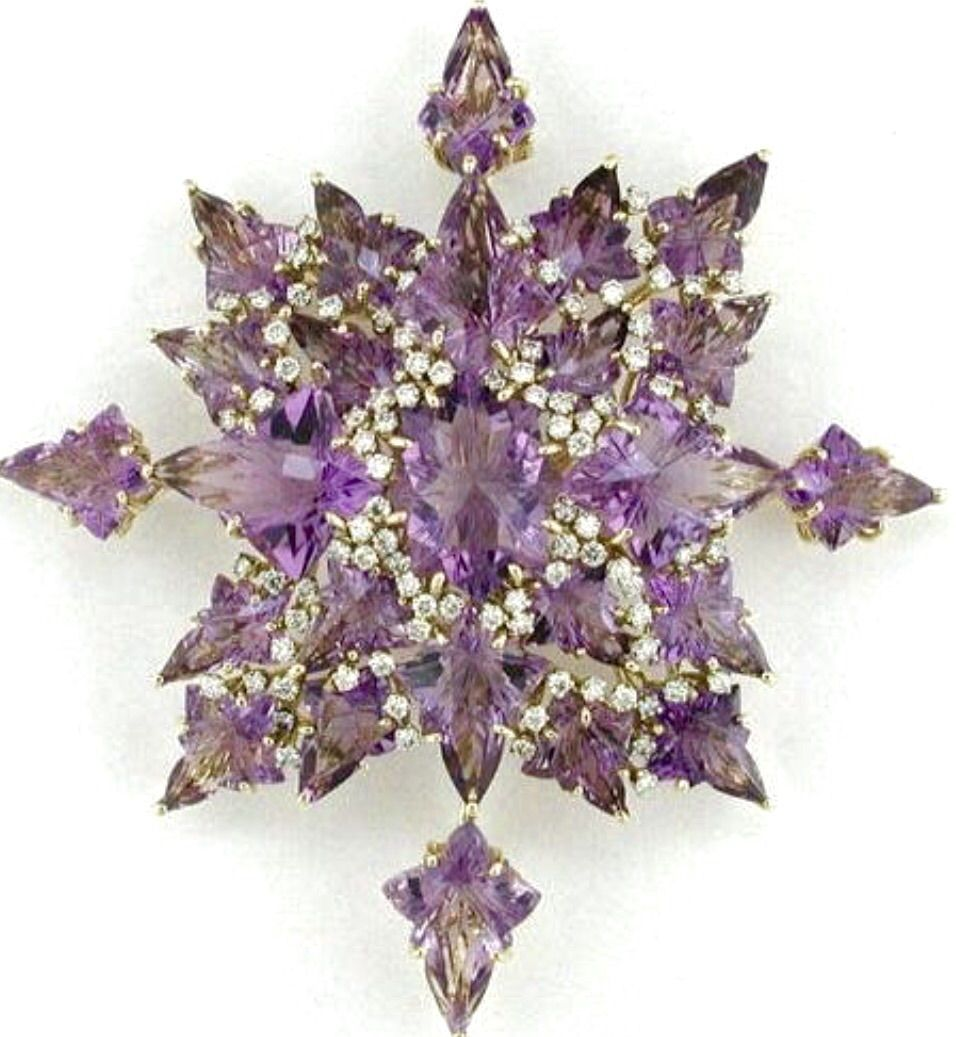 Tony Duquette  Snowflake Brooch