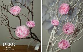 Diy Wunderschone Pfingstrosen Aus Krepppapier Deko Kitchen Blumen Basteln Papierblumen Diy Fruhlingsblumen Basteln