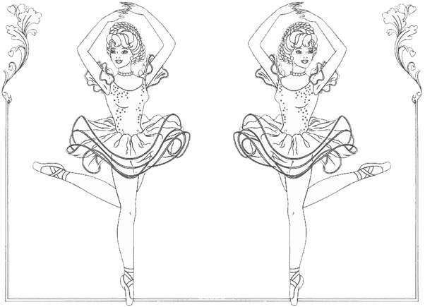 ballerina coloring pages coloring part 2 colouring book 7 - Ballet Coloring Pages 2