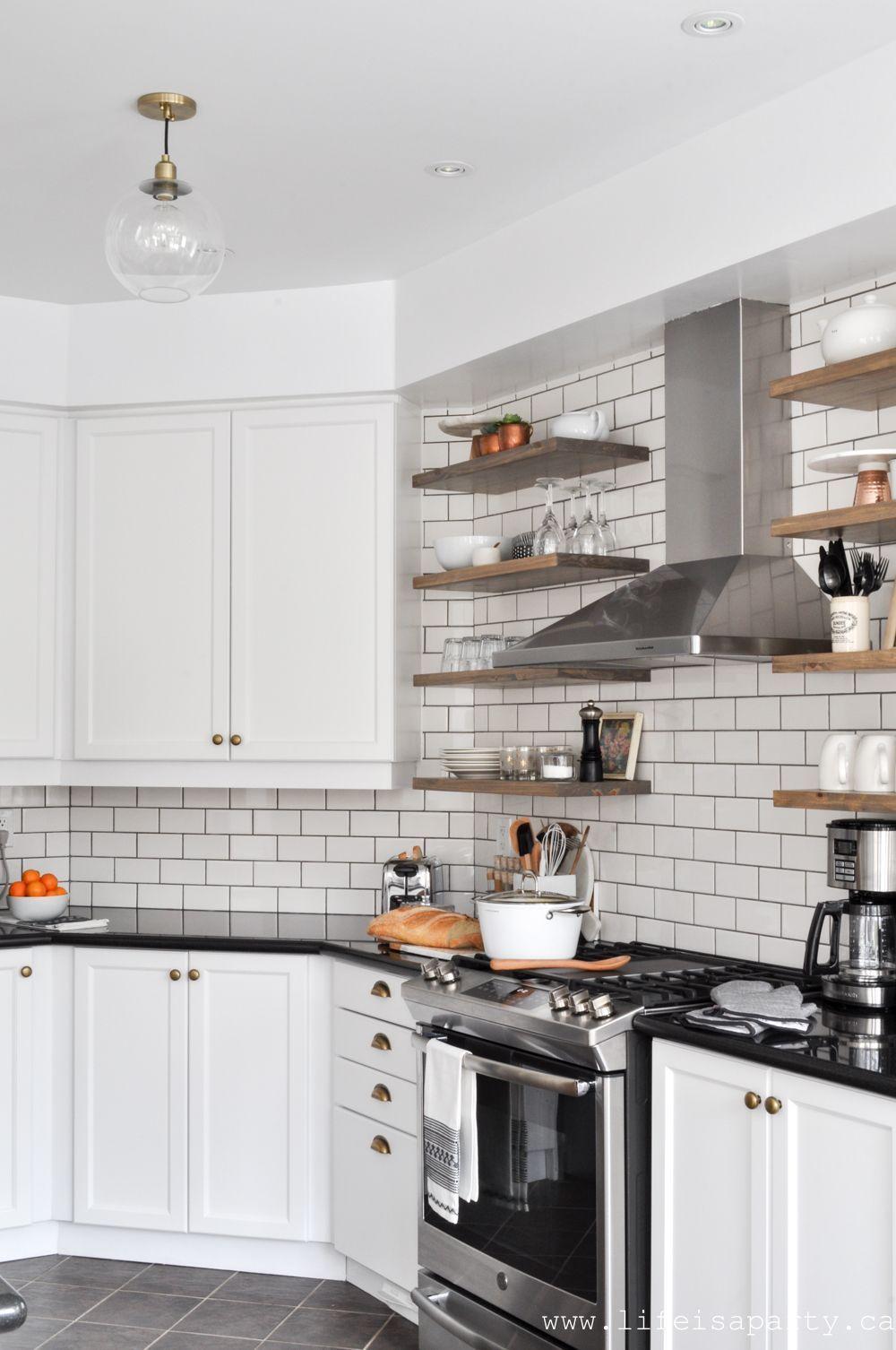 Modern Farmhouse Kitchen Makeover painted white