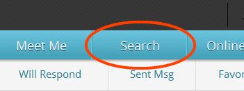 how do you search by username on pof
