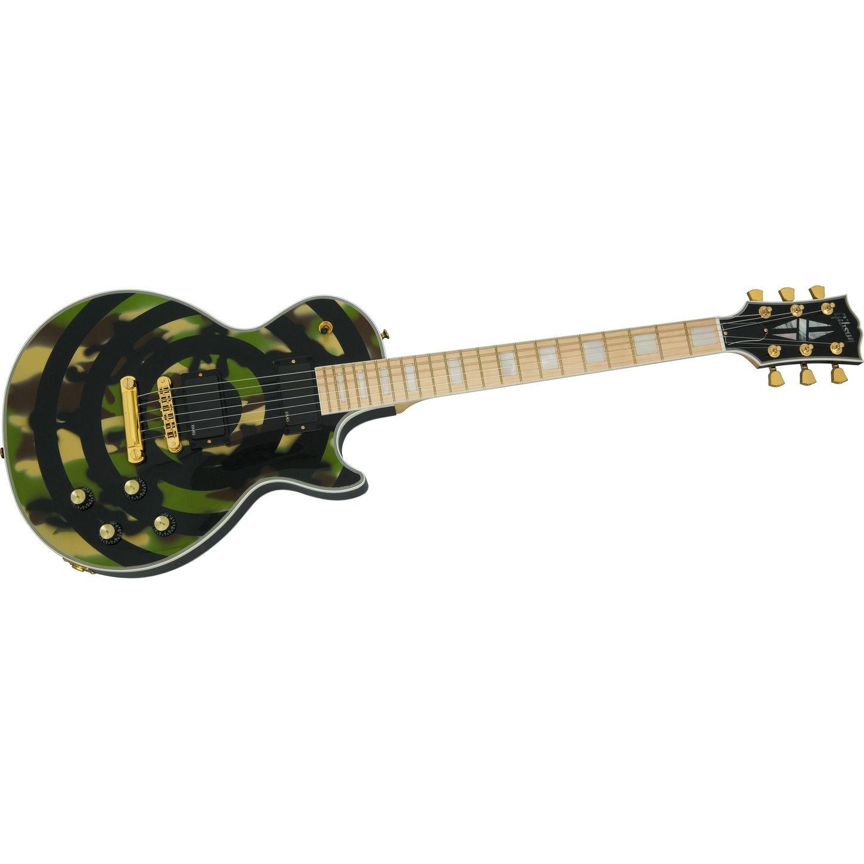 zakk wylde signature les paul camo bull 39 s eye electric guitar new stuff guitar gibson. Black Bedroom Furniture Sets. Home Design Ideas