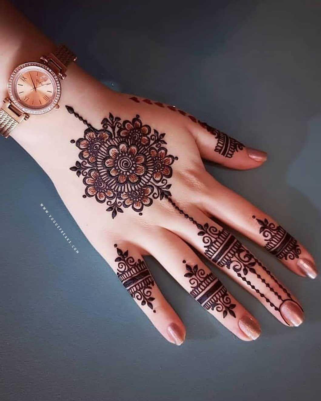 Simple Tikki Mehndi Design For Eid Mehndi Designs For Fingers